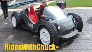 getlinkyoutube.com-Strati first 3D printed car. We go for a short ride! New EV IMTS 2016 in Sept.