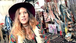 getlinkyoutube.com-Rock singer designs her own fashion accessories from colourful feathers