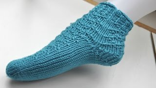 getlinkyoutube.com-Knit with eliZZZa * Super Easy Sock Knitting * No Wrap & Turn * Part 1 * Toe