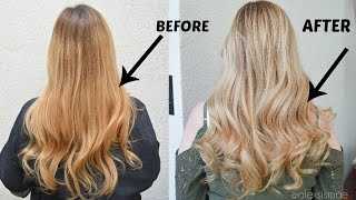 getlinkyoutube.com-How to Neutralize Brassy Hair to a Gorgeous Blonde