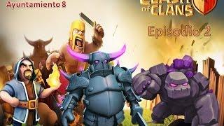 getlinkyoutube.com-Clash of Clans | Como atacar en guerra con ayuntamiento 8 | Ep 2
