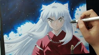 getlinkyoutube.com-Speed Drawing - InuYasha