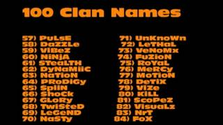 getlinkyoutube.com-100 Clan Name Ideas