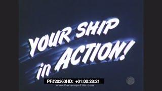 getlinkyoutube.com-Your Ship in Action - Color, U.S. Navy Heavy Cruiser in the Pacific, World War II 20360 HD