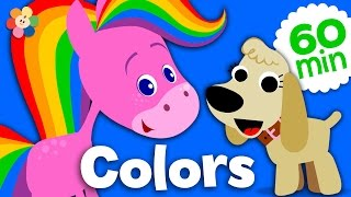 getlinkyoutube.com-Coloring and Music for Kids | Rainbow Horse Color Compilation | Learn Colors for Kids | BabyFirst TV