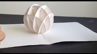 getlinkyoutube.com-How To Make 3D Christmas Snow Ball  Pop Up Card Kirigami Tutorial