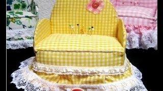 getlinkyoutube.com-Cómo hacer un hermoso y útil COSTURERO con forma de sillón (1a.PARTE) / Ronycreativa