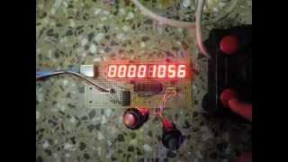 getlinkyoutube.com-Coordinate Measuring Machine - Display Test - Stepper Step Count
