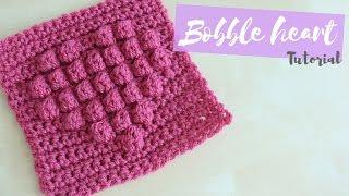 getlinkyoutube.com-CROCHET: Bobble Heart Square | Bella Coco