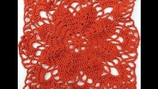 getlinkyoutube.com-Crochet: Cuadrado # 17 y Uniones
