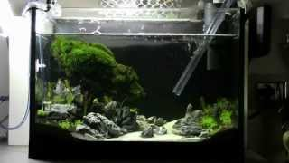 getlinkyoutube.com-Weekly cleaning aquarium - Dennerle nano gravel cleaner