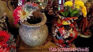 getlinkyoutube.com-Flower Vase out of Newspaper