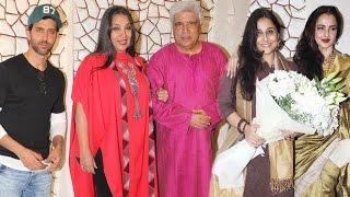 getlinkyoutube.com-Javed Akhtar's Birthday Bash 2016   Hrithik Roshan, Rekha, Anil Kapoor