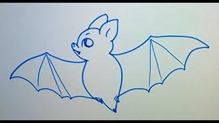 getlinkyoutube.com-Учимся рисовать летучую мышь