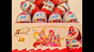getlinkyoutube.com-36 Киндер Cюрпризов,Unboxing Kinder Surprise Eggs Winx Club игрушки по мультику Феи Клуб Винкс