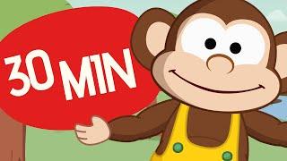 getlinkyoutube.com-5 little monkeys and more | monkeys | Nursery Rhymes | Toobys