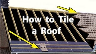 getlinkyoutube.com-How to TILE A ROOF with Clay or Concrete Tiles - New Roof