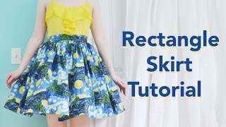 getlinkyoutube.com-Rectangle Skirt Tutorial / Starry Night Skirt
