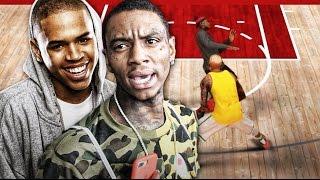getlinkyoutube.com-Soulja Boy Vs Chris Brown MyPark Celebrity 1v1 Rematch   Ugly Jumpshot & ANKLES BUCKLED   NBA 2k17