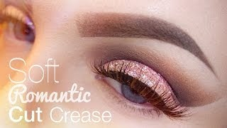 getlinkyoutube.com-Soft Romantic Cut Crease Makeup Tutorial