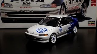 getlinkyoutube.com-Building Honda Civic Ferio Street Racer 1 24 Hasegawa 1993