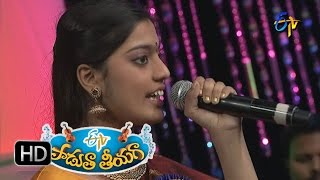Gowramma Talli Song - Anukruthi Performance in ETV Padutha Theeyaga - 27th June 2016