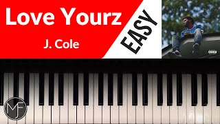 "getlinkyoutube.com-""Love Yourz"" - J. Cole Piano Tutorial"