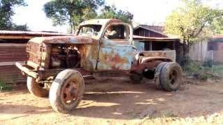 getlinkyoutube.com-Ligando caminhão Chevrolet 6 cilindros - militar