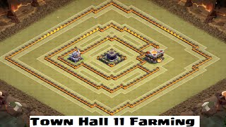 getlinkyoutube.com-Best Town Hall 11 Farming/Hybrid Base Design Speed Build! Clash of Clans
