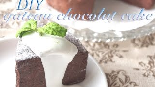 getlinkyoutube.com-スイーツデコ ガトーショコラ 作り方 DIY Fake food Gateau chocolat cake
