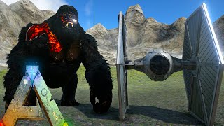 getlinkyoutube.com-Ark Survival Evolved - Tie Fighter VS Tribes and Bosses (Ark Gameplay)