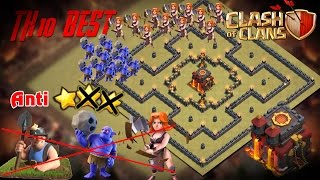 getlinkyoutube.com-[Clash of Clans] TH10 Base War Defense Bowler - Valkyrie - Miner Anti 3 Star + Review