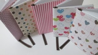 getlinkyoutube.com-DIY : #27 Mini Notebook ♥