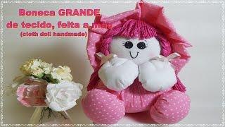 getlinkyoutube.com-Como Fazer Boneca de tecido GRANDE sem máquina de costura -Cloth doll handmade