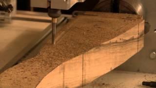 getlinkyoutube.com-3D CNC gunstock carving