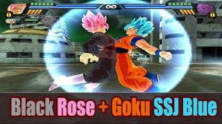 getlinkyoutube.com-Goku SSG Blue and Black Goku Rose Fusion | Saiyan Blue Rose | DBZ Tenkaichi 3 (MOD)