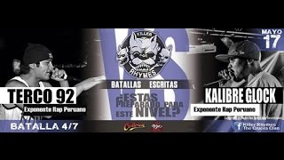Terco 92 vs Kalibre Glock | Killer Rhymes (Batalla)