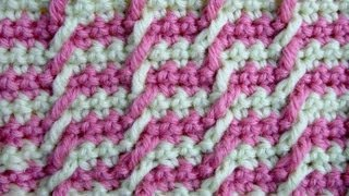 getlinkyoutube.com-Узор вязания крючком 12 Жаккард - Сrochet pattern