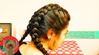 getlinkyoutube.com-تسريحة شعر أنيقة ورياضية   الضفائر الجانبية داخل الشعر