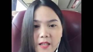 Beautiful Cambodia girl on Bus.