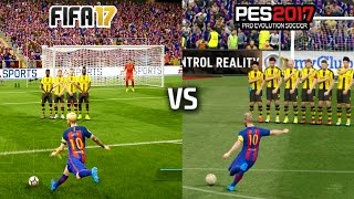 getlinkyoutube.com-FIFA 17 vs PES 17 - FREE KICKS (featuring Messi, Ronaldo, Ibrahimovic, Calhanoglu)