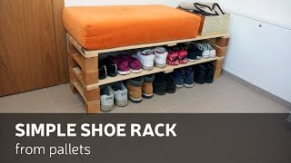 getlinkyoutube.com-DIY: Simple Shoe Rack From Pallets