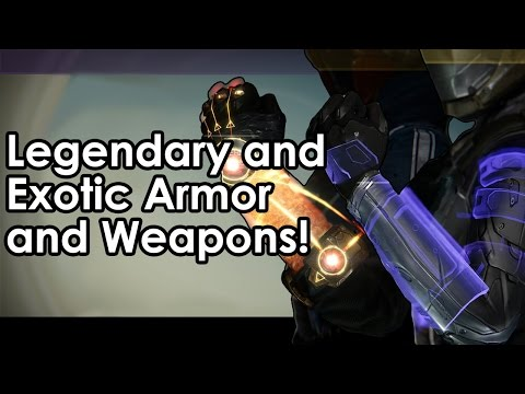 Destiny Beta: Legendary and Exotic Armor and Weapons!