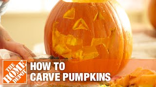 A video showing how to carve a pumpkin for Halloween.