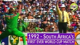 South Africa's first ever World cup match - SA vs Australia 1992 World cup |*Extended highlights*
