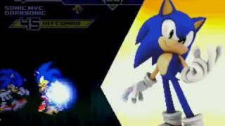 getlinkyoutube.com-Mugen: Sonic Mvc & Darkspinesonic vs Sonic & ShadowABAB