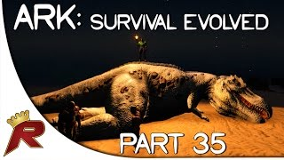 "getlinkyoutube.com-Ark: Survival Evolved Gameplay - Part 35: ""Albino T-Rex!"" (Early Access)"