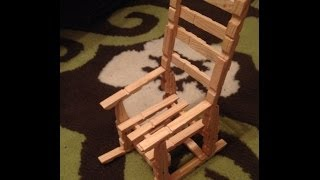 getlinkyoutube.com-wooden mini chair from wooden clots clips