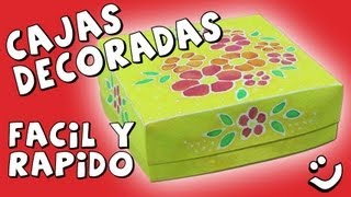getlinkyoutube.com-Como Hacer Cajas para Regalos *Gift Box* Como Pintar Cajas Scrapbook Pintura Facil Para Ti