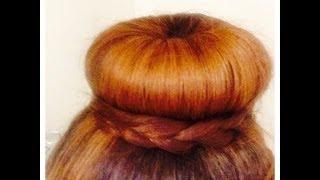 getlinkyoutube.com-Peinado Sofisticado y glamoroso de dona(Donut Bun)
